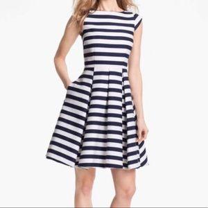 Kate Spade Mariella Blue and White Striped Dress